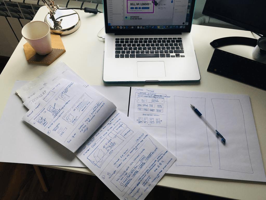 Скетчи позволяют зафиксировать и презентовать идеи дизайнера