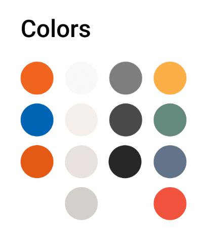 Палитра фирменных цветов для сайта компании «Теплодар»